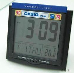 Casio NEW TRAVEL DQ-750F-1 TEMPERATURE LIGHT alarm clock Snooze+FREE SHIP