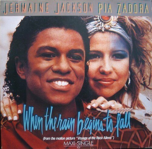 "Jermaine Jackson When the rain begins to fall (Ext., 6:07min., 1984.. [Maxi 12""]"