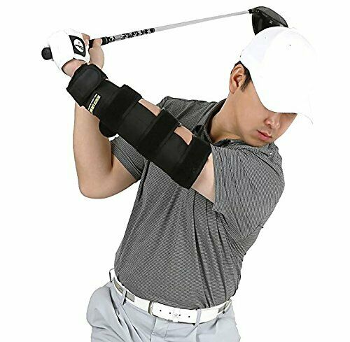 Weighted Elbow Brace - Shoulder Turn & Straight Arm Golf Swing Trainer