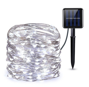 Solar Powered 75FT 200 LED String Fairy Lights Garden