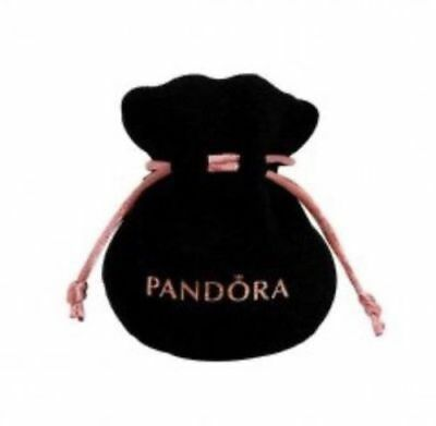 NEW! Authentic Pandora Necklace, Earrings, Bead, Ring Black Velvet Gift Pouch