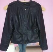 Oasis Black Leather Biker Jacket