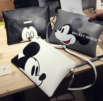 Mickey Mouse Bags (New Women Girl Mickey Mouse Handbag Shoulder Bag Purse Tote Messenger Hobo)