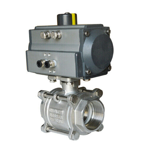 """2"""" Pneumatic Actuated Ball Valve Double Acting Air for Automatic Control System"""