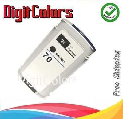 Cartridge Fit HP 70 Matte Black Ink C9448A HP Designjet Z2100 Z5200 Z3200 (70 Matte Black Cartridge)