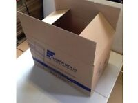 TOWER HAMLETS - Cardboard boxes , Large single wall 4 packing , moving 58cmx40cmx38cm Qty Available