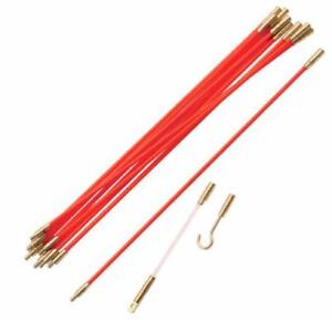 Brand New Cable Installation Rod Set 12pc 10M/DIGITAL MULTI-METER CLAMP / 50FT or 100 FT Fish Tape/1000Ft walking tape