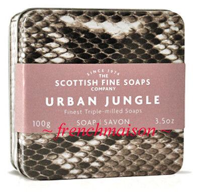 Scottish Fine Soaps Urban Junle Python Travel Tin Gift Box Dad Him Spicy Musk