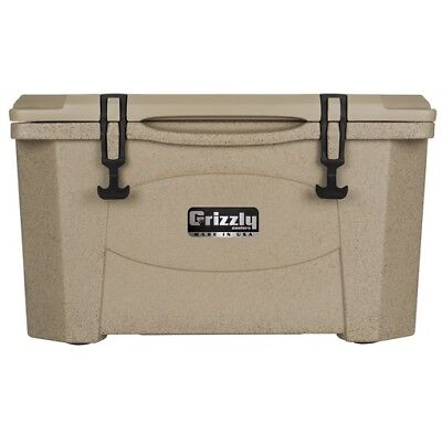 NEW Grizzly G60_SDT 60QT Cooler with RotoTough Molded Construction-Sandstone/Tan