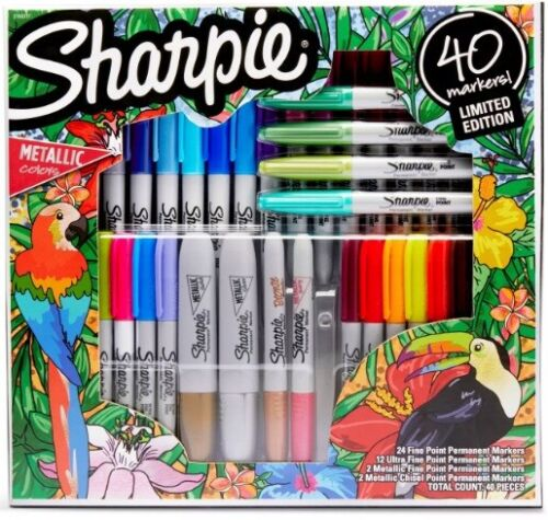 Sharpie Markers 40 Count - Limited Edition Set - NEW - Free Shipping