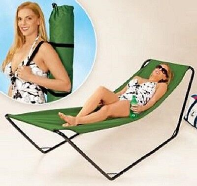 PORTABLE HAMMOCK XL EASY SET-UP FOLDAWAY CARRYING BAG INCLUDED...HIGH QUALITY