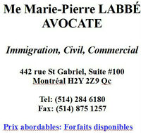 AVOCATE EN IMMIGRATION, CIVIL ET COMMERCIAL