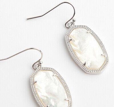 Kendra Scott Dani Earrings In Ivory Pearl Silver - Ivory Pearl Earrings