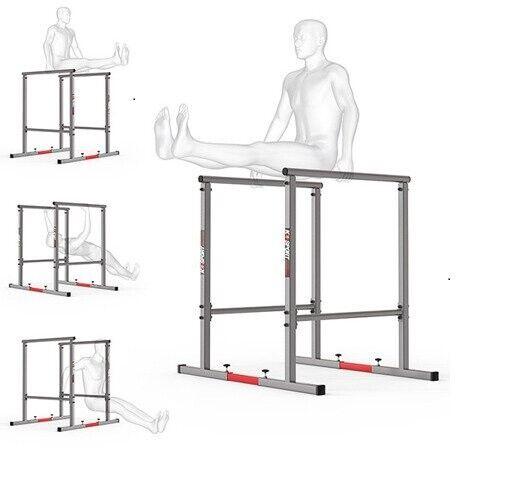 DIP Station Barren Ständer 2x Verbindungsrohr bis 280 kg von K-Sport