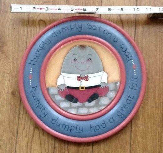 HUMPTY DUMPTY BABY NURSERY WALL DECOR-SUCH A CUTE SMILE!
