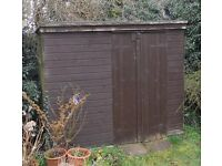 Wooden shed 1.3m x 2.4m