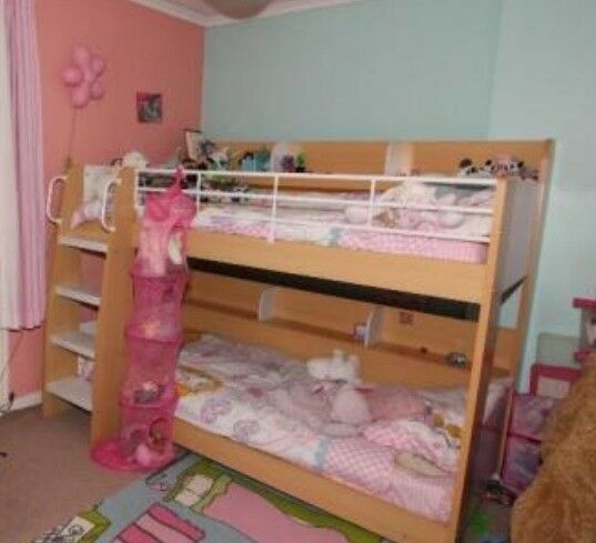 White And Maple Bunk Beds In Airdrie North Lanarkshire Gumtree