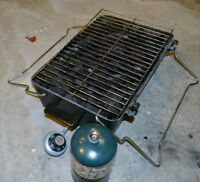 Portable BBQ with propane tank