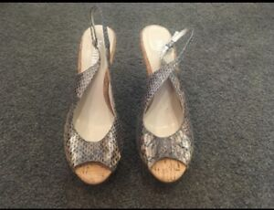 Mollini leather snake skin, size 8 heels, new Kew Boroondara Area Preview