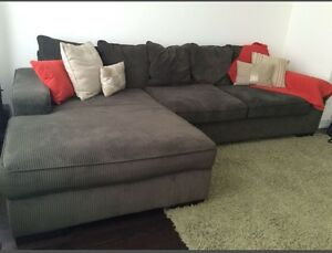 Large original Ashley sectional sofa for sale