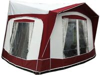 Bradcot Portico XL caravan porch awning, burgundy and grey with steel frame never used, as new
