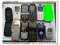 Retro mobiles Samsung Nokia Sony etc