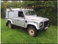 Land Rover 110 defender 2.4tdci puma 6 speed 08reg 1 owner fsh no vat