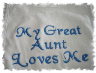 Great Aunt Bib - My Great Aunt Loves Me Baby Bib