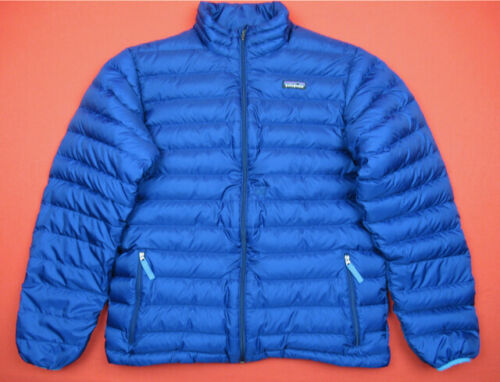 Patagonia $119 Boys XXL 16-18 Down Sweater Insulated Puffer Jacket Blue 68244