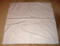 """white cotton tablecloth with blue border (like new) 45"""" X 47"""""""