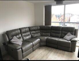 Basically new leather sofa !!