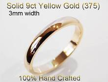 9K & 18K Gold Ring Wedding Band Engagement Friend Ladies + Gents Brighton-le-sands Rockdale Area Preview