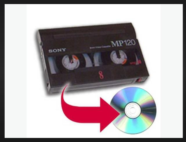 """Sony """"Handycam"""" 8mm Tape to DVD Conversion"""