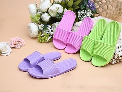 Women Summer Antiskid Love Print Flat Bath Slippers Indoor & Outdoor Slippers