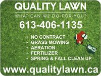 Quality Lawn -- Aeration + Mowing  Special