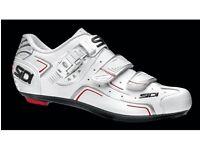 New SIDI level road cycling shoes white size EU 45 UK 10