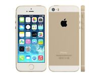 iPhone 5s white gold unlocked mint condition