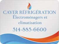 CAYER REFRIGERATION 514-885-6600 ELECTROMENAGER