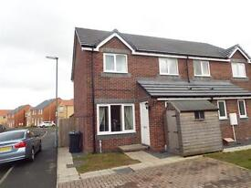 Modern Two bedroomed Semi Detached House to Let. Catchgate Stanley County Durham newly decorated