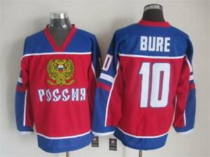 New Pavel Bure Team Russia Olympic Jersey Rare Large L CCCP
