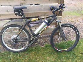 Giant Carbon frame electric mountain bike. 48v 1000w.