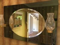 Unusual mirror with lights