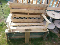 Bench made of old pallets
