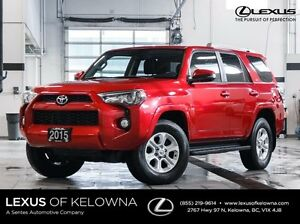 2015 Toyota 4Runner 4X4 SR5 with Navigation and Heated Leather