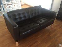 Ikea Leather Sofa - Two Seater - LANDSKRONA Two-seat sofa, Grann, Bomstad dark brown/wood