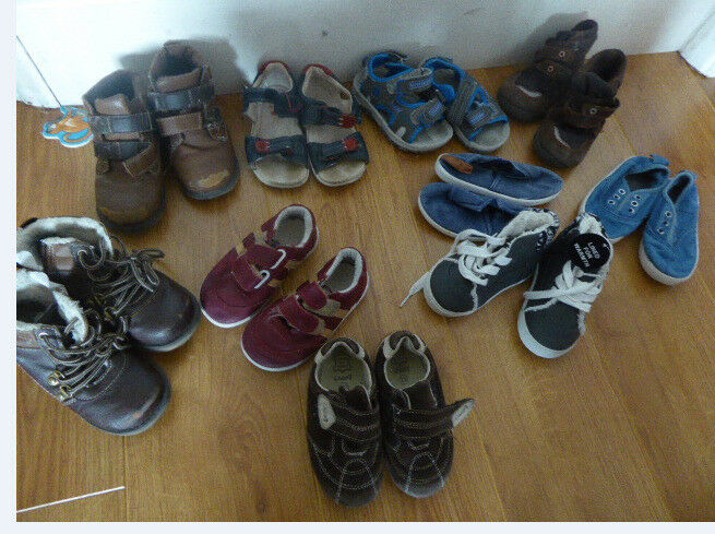 10 pairs of shoes.