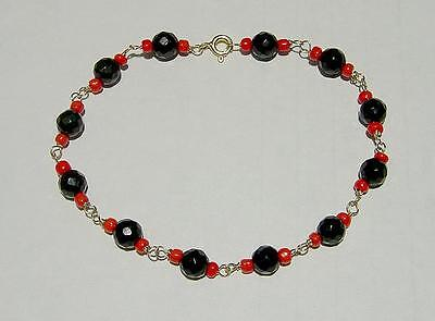 14k Gold Ladies Azabache Bracelet-free Shipping