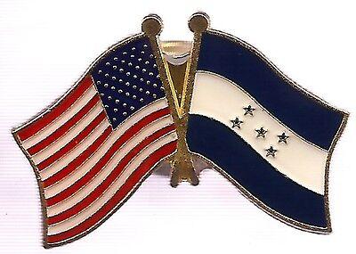 LOT OF 3 Honduras Friendship Flag Lapel Pins - Honduran Crossed Flag Pin