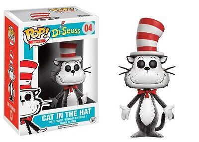 Dr Seuss Spielzeug (Dr. Seuss Cat in the Hat Flocked Version Buch POP! Books #04 Vinyl Figur Funko)