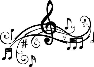 Music Decal Window Bumper Sticker Notes Bar Scale Song Car Decor Free USShipping](Musical Decor)
